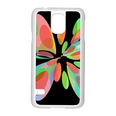Colorful abstract flower Samsung Galaxy S5 Case (White)