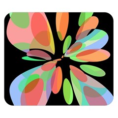 Colorful abstract flower Double Sided Flano Blanket (Small)