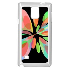 Colorful abstract flower Samsung Galaxy Note 4 Case (White)