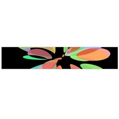 Colorful abstract flower Flano Scarf (Large)