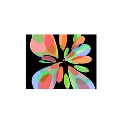 Colorful abstract flower Satin Wrap