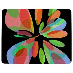 Colorful abstract flower Jigsaw Puzzle Photo Stand (Rectangular)