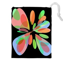 Colorful Abstract Flower Drawstring Pouches (xxl)