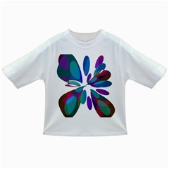 Blue abstract flower Infant/Toddler T-Shirts