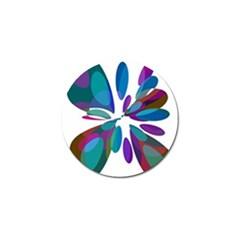 Blue abstract flower Golf Ball Marker (10 pack)