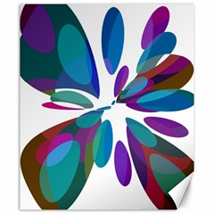 Blue abstract flower Canvas 20  x 24
