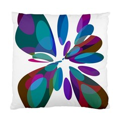 Blue abstract flower Standard Cushion Case (One Side)