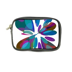 Blue abstract flower Coin Purse