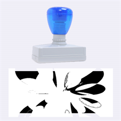 Blue abstract flower Rubber Stamps (Large)