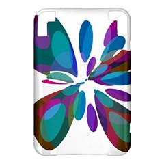 Blue abstract flower Kindle 3 Keyboard 3G