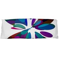 Blue abstract flower Body Pillow Case (Dakimakura)