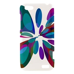Blue abstract flower HTC One V Hardshell Case