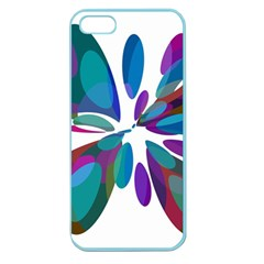 Blue abstract flower Apple Seamless iPhone 5 Case (Color)