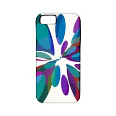 Blue abstract flower Apple iPhone 5 Classic Hardshell Case (PC+Silicone)