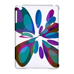 Blue abstract flower Apple iPad Mini Hardshell Case (Compatible with Smart Cover)