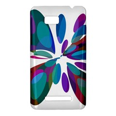 Blue abstract flower HTC One SU T528W Hardshell Case