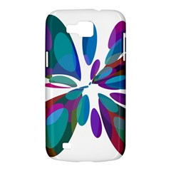 Blue abstract flower Samsung Galaxy Premier I9260 Hardshell Case