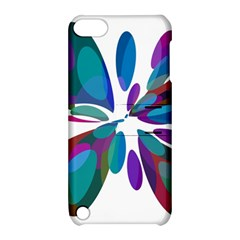 Blue abstract flower Apple iPod Touch 5 Hardshell Case with Stand