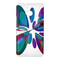 Blue abstract flower HTC One M7 Hardshell Case