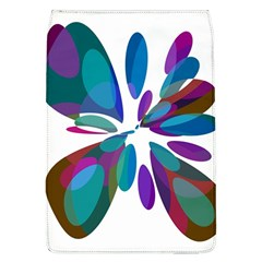 Blue abstract flower Flap Covers (L)