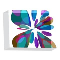Blue abstract flower 5 x 7  Acrylic Photo Blocks