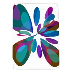 Blue abstract flower Flap Covers (S)