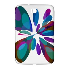 Blue abstract flower Samsung Galaxy Note 8.0 N5100 Hardshell Case