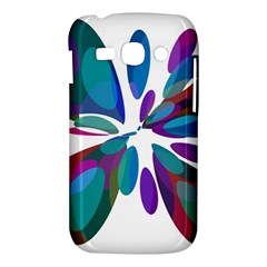Blue abstract flower Samsung Galaxy Ace 3 S7272 Hardshell Case