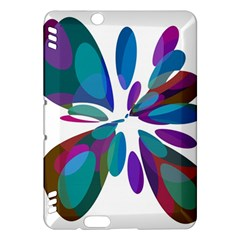 Blue abstract flower Kindle Fire HDX Hardshell Case