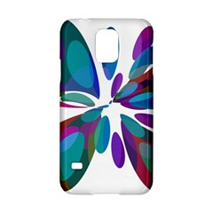 Blue abstract flower Samsung Galaxy S5 Hardshell Case