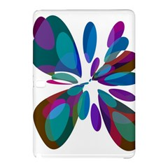 Blue abstract flower Samsung Galaxy Tab Pro 10.1 Hardshell Case