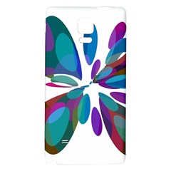 Blue abstract flower Galaxy Note 4 Back Case