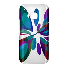 Blue abstract flower HTC One M9 Hardshell Case