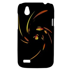 Orange twist HTC Desire V (T328W) Hardshell Case