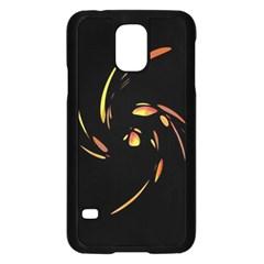 Orange twist Samsung Galaxy S5 Case (Black)