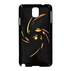 Orange twist Samsung Galaxy Note 3 Neo Hardshell Case (Black)