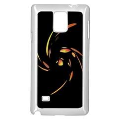 Orange twist Samsung Galaxy Note 4 Case (White)