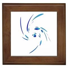 Blue twist Framed Tiles