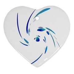 Blue twist Ornament (Heart)