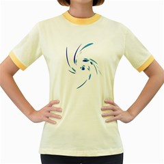 Blue twist Women s Fitted Ringer T-Shirts