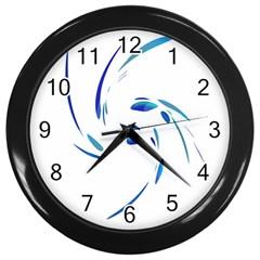 Blue twist Wall Clocks (Black)