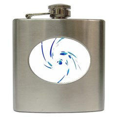 Blue twist Hip Flask (6 oz)