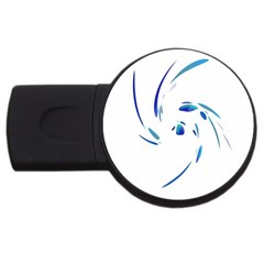 Blue twist USB Flash Drive Round (1 GB)