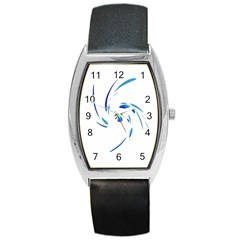 Blue twist Barrel Style Metal Watch