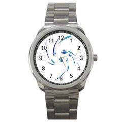 Blue twist Sport Metal Watch