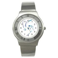 Blue twist Stainless Steel Watch