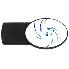 Blue twist USB Flash Drive Oval (4 GB)