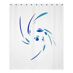 Blue twist Shower Curtain 60  x 72  (Medium)