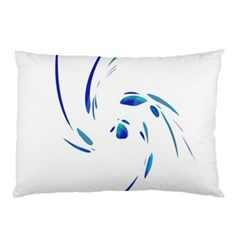 Blue twist Pillow Case (Two Sides)