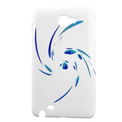 Blue twist Samsung Galaxy Note 1 Hardshell Case